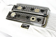 Aluminum Valve Covers AFTER Chrome-Like Metal Polishing and Buffing Services / Restoration Services Plus Custom Painting Services