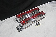 1960's Mickey Thompson Vintage Aluminum Valve Covers AFTER Chrome-Like Metal Polishing and Buffing Services / Restoration Services Plus Custom Painting Services