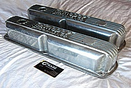 Mopar Performance Aluminum Valve Covers BEFORE Chrome-Like Metal Polishing and Buffing Services / Restoration Services Plus Custom Painting Services