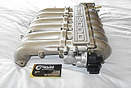 1996 Mitsubishi 3000 GT Aluminum Intake Manifold BEFORE Chrome-Like Metal Polishing and Buffing Services / Restoration Services Plus Custom Painting Services
