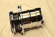 V8 AC Compressor AFTER Chrome-Like Metal Polishing and Buffing Services