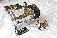 Ford Mustang Aluminum V8 AC Compressor AFTER Chrome-Like Metal Polishing and Buffing Services