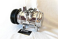 Ford Mustang V8 AC Compressor AFTER Chrome-Like Metal Polishing and Buffing Services / Restoration Services