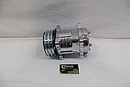 Aluminum V8 Engine AC Compressor AFTER Chrome-Like Metal Polishing and Buffing Services / Restoration Services