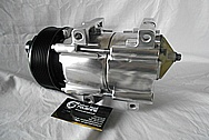 2002 Ford F-250 Aluminum AC Compressor AFTER Custom Metal Satin Finish Polishing Services