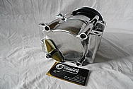 2002 Ford F-250 Aluminum AC Compressor AFTER Custom Metal Satin Finish Polishing Services