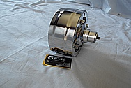 Steel AC Compressor Pulleys and AC Compressor AFTER Chrome-Like Metal Polishing and Buffing Services / Restoration Services