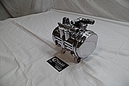 Aluminum AC Compressor Housing AFTER Chrome-Like Metal Polishing and Buffing Services / Restoration Services