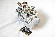 Chevy Corvette Aluminum DENSO AC Compressor AFTER Chrome-Like Metal Polishing and Buffing Services
