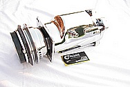 Steel V8 AC Compressor AFTER Chrome-Like Metal Polishing and Buffing Services