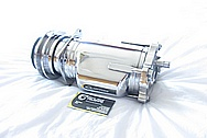 Chevy 305 Engine Steel V8 AC Compressor AFTER Chrome-Like Metal Polishing and Buffing Services