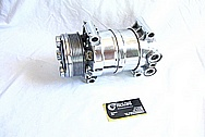 2001 GMC Sierra V8 350 Cu. In. 5.7L Engine Aluminum AC Compressor AFTER Chrome-Like Metal Polishing and Buffing Services