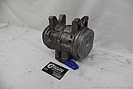 Aluminum AC Compressor BEFORE Chrome-Like Metal Polishing - Aluminum Polishing Services