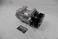 1993 Ford Lightning Aluminum AC Compressor BEFORE Chrome-Like Metal Polishing - Aluminum Polishing Services