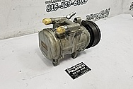 Aluminum AC Compressor BEFORE Chrome-Like Metal Polishing and Buffing Services / Restoration Services - Aluminum Polishing - AC Compressor Polishing
