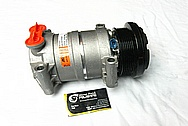 2002 Chevy S10 Aluminum AC Compressor BEFORE Chrome-Like Metal Polishing and Buffing Services