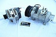 Dodge Hemi 6.1L Engine AC Compressor BEFORE Chrome-Like Metal Polishing and Buffing Services
