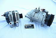 Dodge Hemi 6.1L Engine AC Compressor BEFORE Chrome-Like Metal Polishing and Buffing Services