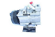 Large V8 AC Compressor BEFORE Chrome-Like Metal Polishing and Buffing Services