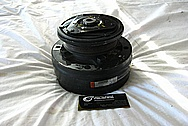 1990 Chevy Camaro V8 AC Compressor BEFORE Chrome-Like Metal Polishing and Buffing Services / Restoration Services