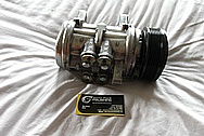 Ford Mustang V8 AC Compressor BEFORE Chrome-Like Metal Polishing and Buffing Services / Restoration Services