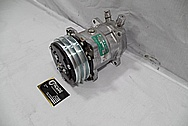 Aluminum V8 Engine AC Compressor BEFORE Chrome-Like Metal Polishing and Buffing Services / Restoration Services