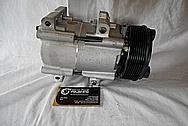 2002 Ford F-250 Aluminum AC Compressor BEFORE Custom Metal Satin Finish Polishing Services