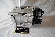 2002 Ford F-250 Aluminum AC Compressor BEFORE Custom Metal Satin Finish Polishing Services
