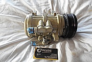 Aluminum AC Compressor BEFORE Chrome-Like Metal Polishing and Buffing Services / Restoration Services