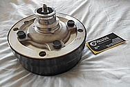 Steel AC Compressor Pulleys and AC Compressor BEFORE Chrome-Like Metal Polishing and Buffing Services / Restoration Services
