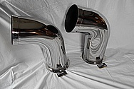 2014 Air Tractor Airplane Engine Stainless Steel Exhaust Pipes AFTER Chrome-Like Metal Polishing and Buffing Services / Restoration Services