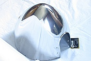 Aluminum Aircraft Spinner AFTER Chrome-Like Metal Polishing and Buffing Services