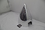 Aluminum Aircraft Spinner AFTER Chrome-Like Metal Polishing - Aluminum Polishing Services - Aircraft Polishing Services