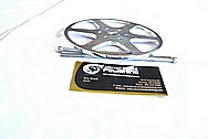 Model Airplane / Aircraft Spinner and Piece AFTER Chrome-Like Metal Polishing and Buffing Services