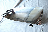 American Airlines Titanium Aircraft Blade AFTER Chrome-Like Metal Polishing and Buffing Services