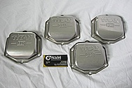 Aircraft Aluminum Titan ECI Engine Covers BEFORE Chrome-Like Metal Polishing and Buffing Services