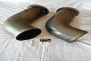 2014 Air Tractor Airplane Engine Stainless Steel Exhaust Pipes BEFORE Chrome-Like Metal Polishing and Buffing Services / Restoration Services
