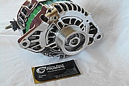 Aluminum V8 Engine Alternator AFTER Chrome-Like Metal Polishing and Buffing Services / Restoration Services