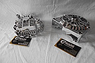 Aluminum V8 Engine Alternator AFTER Chrome-Like Metal Polishing and Buffing Services / Restoration Service