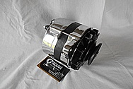 1988 Toyota Tercel Remy Aluminum Alternator AFTER Chrome-Like Metal Polishing - Aluminum Alternator Polishing