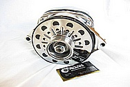 Chevy Corvette V8 Aluminum Alternator AFTER Chrome-Like Metal Polishing and Buffing Services