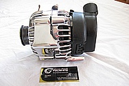 1996 Chevy Tahoe Vortec 350 V8 Aluminum Alternator AFTER Chrome-Like Metal Polishing and Buffing Services