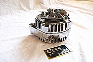 2005 and Up Chevrolet C6 Corvette V8 Aluminum Alternator AFTER Chrome-Like Metal Polishing and Buffing Services