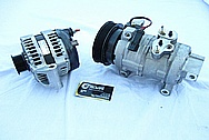 Dodge Hemi 6.1L Engine Aluminum Alternator BEFORE Chrome-Like Metal Polishing and Buffing Services