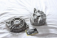 1993 Mazda RX7 Aluminum Alternator BEFORE Chrome-Like Metal Polishing and Buffing Services / Restoration Services