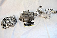 1993 RX7 Rotary Aluminum Alternator BEFORE Chrome-Like Metal Polishing and Buffing Services
