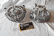 Aluminum V8 Engine Alternator BEFORE Chrome-Like Metal Polishing and Buffing Services / Restoration Services