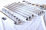 Aluminum Binocular Tripod Pieces AFTER Chrome-Like Metal Polishing and Buffing Services / Restoration Services