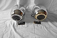 E&J Type 20 Aluminum Head Light Housing AFTER Chrome-Like Metal Polishing and Buffing Services / Restoration Services
