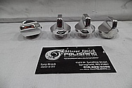 Aluminum Automotive Control Knobs AFTER Chrome-Like Metal Polishing and Buffing Services - Aluminum Polishing